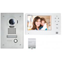"""Kit vidéo platine encastrée avec moniteur écran 7"""" - touche sensitive (130401) - AIPHONE"""