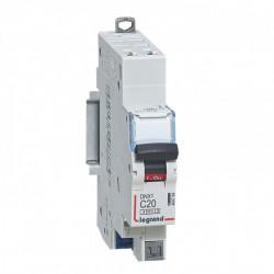 Disjoncteur DNX3 4500 - auto/auto - U+N 230V~ 20A - 4,5kA - courbe C - 1 mod (406784) - LEGRAND