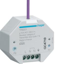 1 Sortie 16A à encastrer KNX radio QL (TRB201) - HAGER