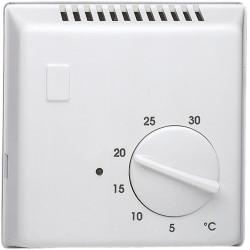 Thermostat ambiance bi-métal chauf eau ch avec contact inverseur + voyant 230V (25620) - HAGER