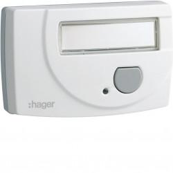 Emetteur bouton poussoir radio à piles, pour récepteur carillon (alim. fournie) (53600) - HAGER