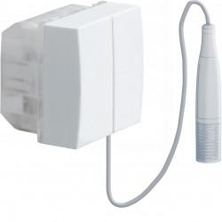 Systo interrupteur va-et-vient à tirage 10A 2 modules Blanc (WS005) - HAGER
