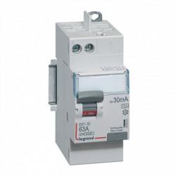 Interrupteur différentiel DX3-ID arrivée haut à vis et départ haut automatique - 2P 230V~ 63A type A 30mA - 2 modules (411651) - LEGRAND