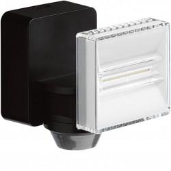 Projecteur LED 8 W + détecteur, noir (EE641) - HAGER