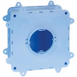 DUOBOX Boîte complète point de centre béton 170x170x70mm ouverture diam 75 pattes raccourcies (52176) - EUROHM
