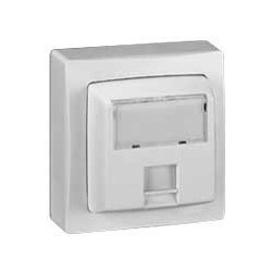 Prise Rj 45 Cat.5E Ftp 9 Contacts Appareillage Saillie Complet - Blanc - LEGRAND