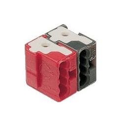 50 Bornes de connexion KNX Tebis rouge / noir - HAGER