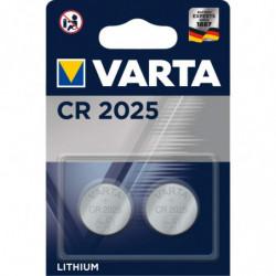 2 Piles bouton CR2025 Varta...