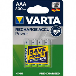 4 Piles Rechargeables AAA /...