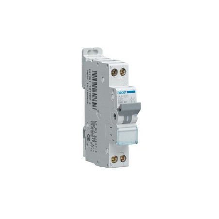 Disjoncteur 1P+N 4.5/6kA C-16A 1M (MJT716) - HAGER