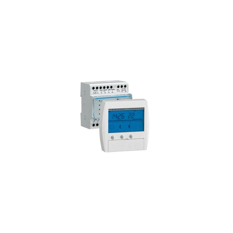 Gestionnaire d 39 nergie confort 3 zones 7j 49112 hager seulement 430 05 for Programmateur chauffage electrique fil pilote zones