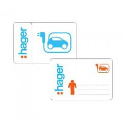 20 Badges d'identification RFID - Utilisateurs (XEV308) - HAGER 3 Semaines