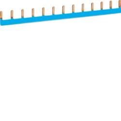 Barre pontage 1P lang. 10mm2 bleu 13M (KB163N) - HAGER