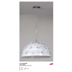 Suspension MISS BUTTERFLY 3xE27 Blanc - VERDACE
