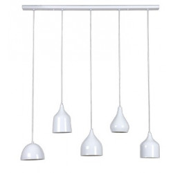 Suspension VINTAGE 5xE27SHINY WHITE/WHITE - VERDACE