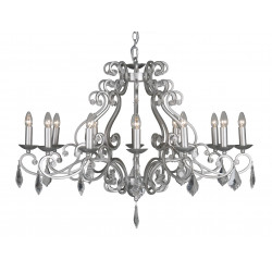 Barozzi HL12 E14 SILV BRUSHED CLEAR CRYS - VERDACE