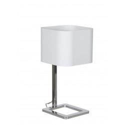 Lampe Bureau KWADRO CHROME KAP BLANC 18x18x36