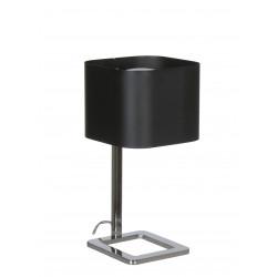 Lampe Bureau KWADRO CHROME KAP NOIR 18x18x36