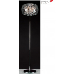 Lampadaire ICE CLEAR CHROME RIPPLE GLAS DIAM  - VERDACE