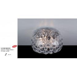 Plafonnier ICE CLEAR CHROME  RIPPLE  DIAM 40