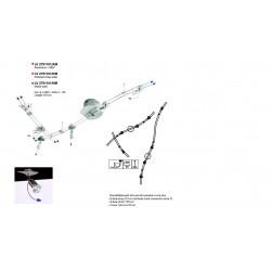 Spot Pauly - RAIL-SET ALU+MDF L210 6X35W/12V - VERDACE