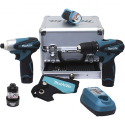 Coffret 3 machines Perceuse Visseuse Lampe - MAKITA