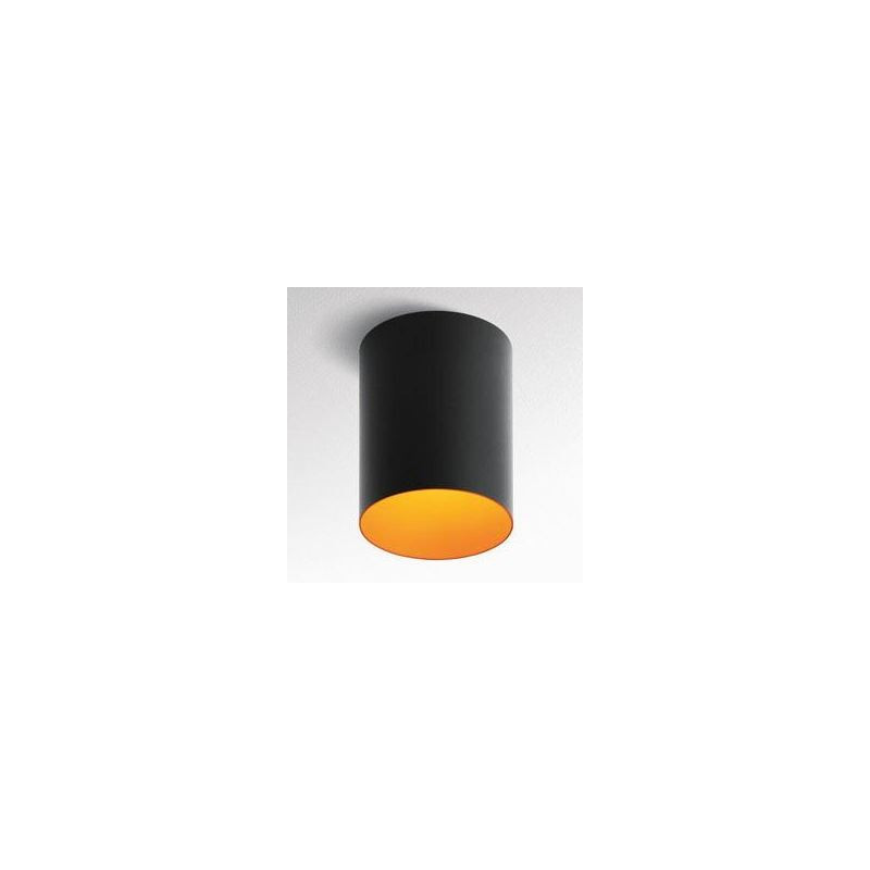tagora plafonnier 270 fluo 2x26w gradable dali noir orange artemide artemide seulement. Black Bedroom Furniture Sets. Home Design Ideas