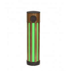 Borne de charge Version Bamboo 1 prise Mode3 - 3 Ph+N 32A (XEV500) - HAGER 3 Semaines