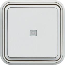 cubyko bouton poussoir 1O à voyant témoin encastré blanc (WNE023B) - HAGER