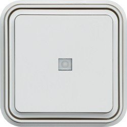 cubyko BP 1O à voyant témoin encastré blanc (WNE023B) - HAGER