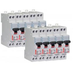 Lot de 10 Disjoncteurs DNX 10A - Uni+N -230V- À Vis (406773) - LEGRAND