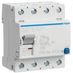 Interrupteur différentiel 4P 40A 30mA type B (CDB440F) - HAGER