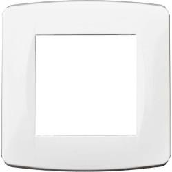 Plaque 1 poste blanche (61895) - EUROHM