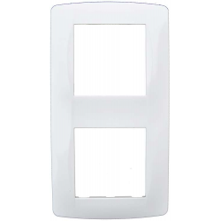 Plaque 2 postes blanche (61897) - EUROHM