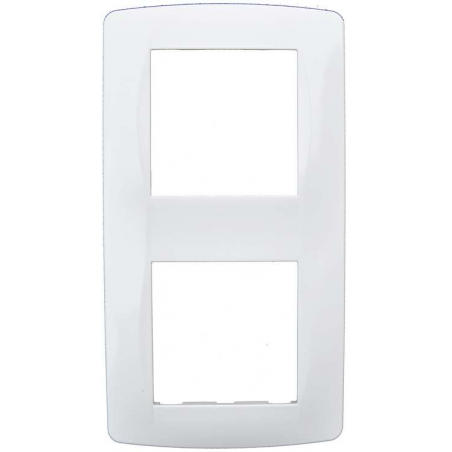 Plaque 2 postes blanche (61897)