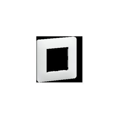 Essensya plaque 1 poste blanc (WE401)