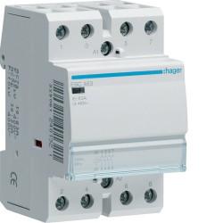 Contacteur 63A 4F 230V (ESC463) - HAGER