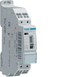Contacteur cde manu. 20A 2F 230V (ESS221B) - HAGER