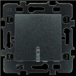 Bouton poussoir Lumineux Anthracite (61905R) - EUROHM