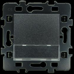 Bouton Poussoir porte-étiquette anthracite (61906) - EUROHM