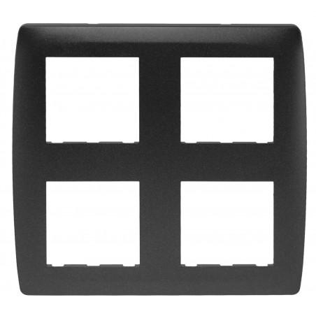 Plaque 2x2 postes anthracite (61986) - EUROHM