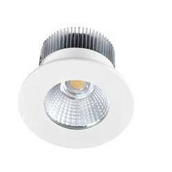 Spot encastré rond fixe LED Aluminium 3000K - INDIGO