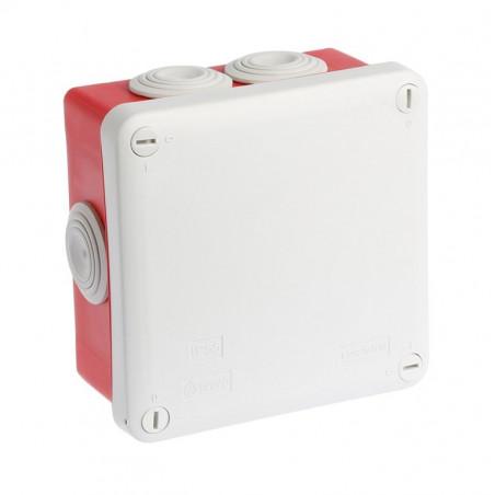 Boîte Dérivation Étanche Fond Rouge 105x105 - EUROHM