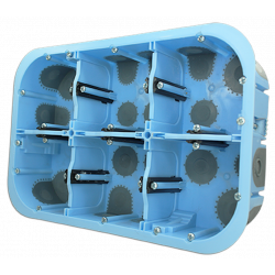 Boîte étanche à l'air XL AIR'metic Grand Format 2x3 Postes Prof.50mm (51020) - EUROHM