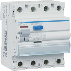 Inter dif 4P 100A 300mA AC (HAG CF485F) - HAGER