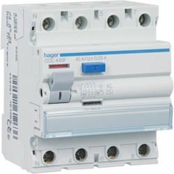 Inter dif 4P 80A 300mA AC (HAG CF480F) - HAGER
