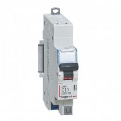 Disjoncteur DNX3 4500 - auto/auto - U+N 230V~ 10A - 4,5kA - courbe C - 1 mod (406782) - LEGRAND