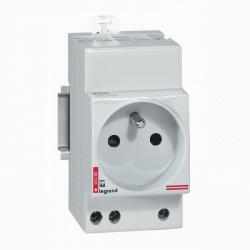Prise de courant modulaire - 10/16 A - 250 V~ - 2P+T - à éclips (004280) - LEGRAND