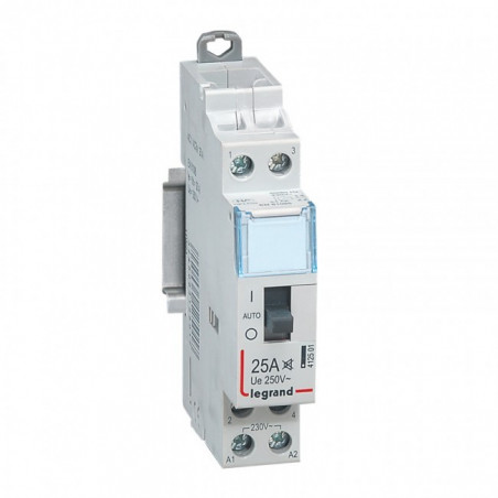 Contacteur Standard Heures Creuses Lexic - 2P - 250 V - 25 A - 2F (412501) - LEGRAND