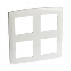 Plaque 2X2 postes blanche (61886) - EUROHM